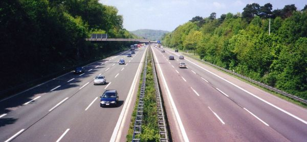Typical             section of Autobahn