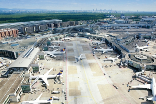 Frankfurt airport terminals (Photo by Fraport AG)